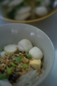 Fishball noodles in Phuket